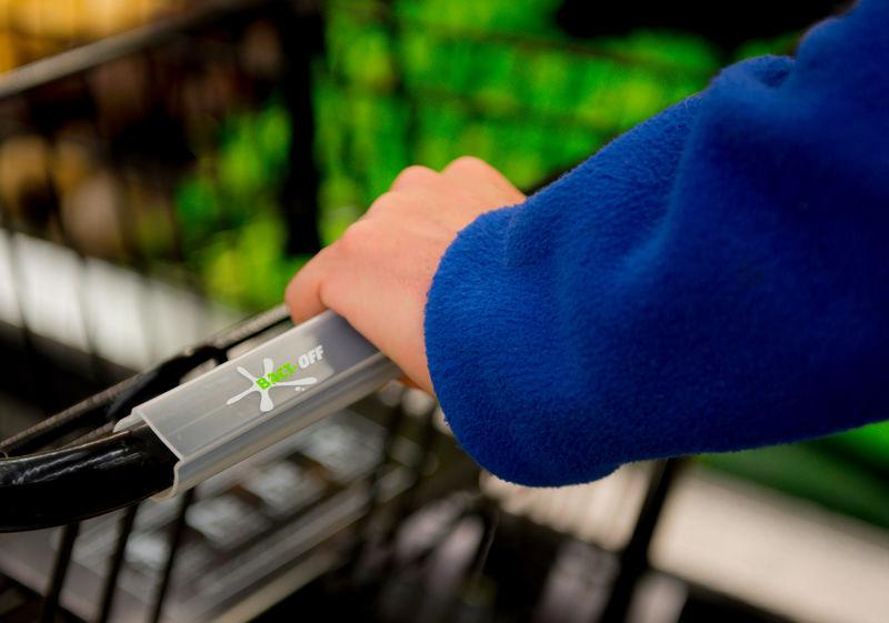 Antimicrobial Shopping Cart Handles