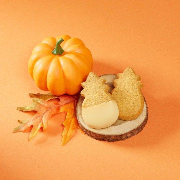 Pumpkin-Flavored Shortbread Cookies