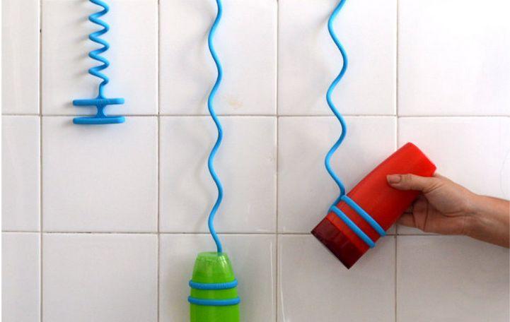 Bungee Bath Cords : shower hanger