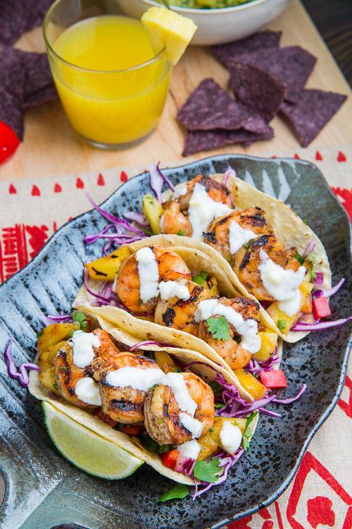 Jamaican Shrimp Tacos