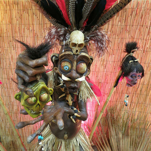 Comically Mabacre Voodoo Sculptures