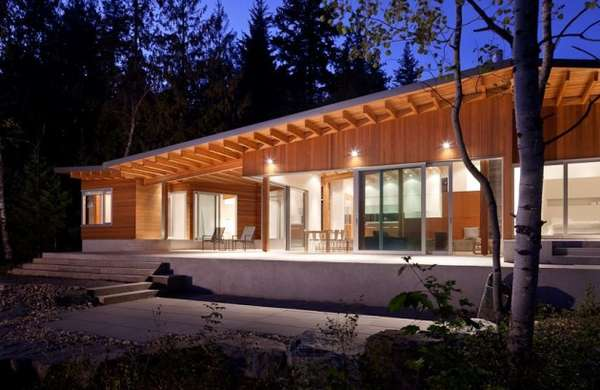 Wooden Bungalow Cottages Shuswap Cabin By Splyce Design