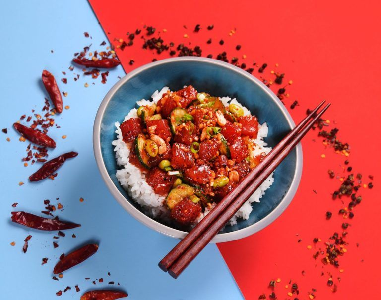 Flavorful Spicy Poke Bowls
