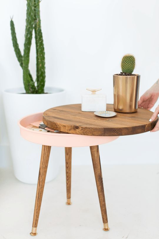 Custom Mid-Century Side Tables