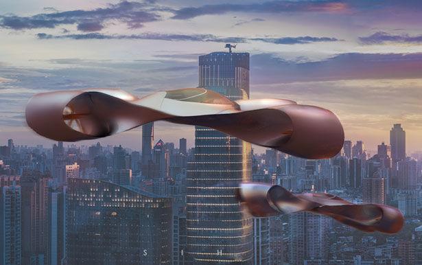 Sculptural Urban Transportation Aircrafts