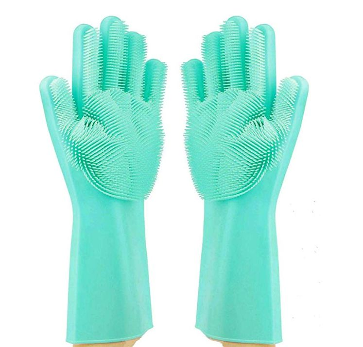 Sponge-Replacing Cleaning Gloves