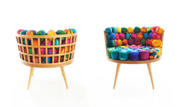 Recycled Silk Ball Seating