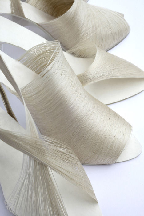 Delicate Silk Strand Shoes