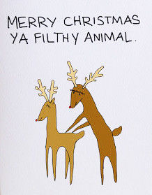 naughty christmas cards