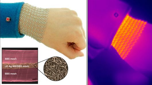 Heat-Wrapping Wearable Mesh