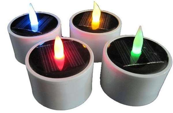 Solar-Powered Candles