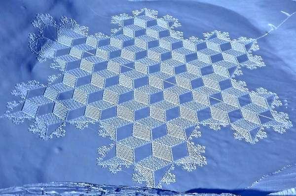 Snowshoe-Patterned Art