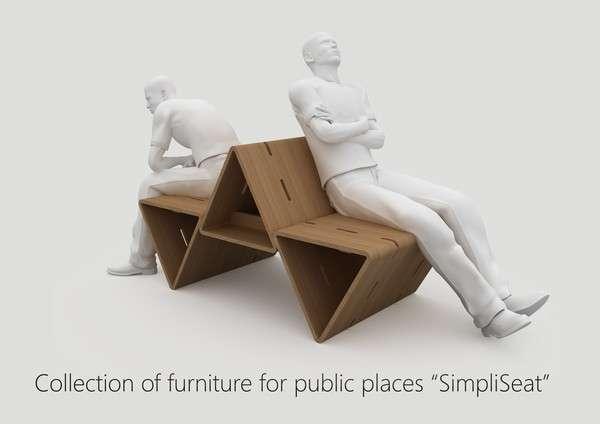 Modular Tri-Sided Seating