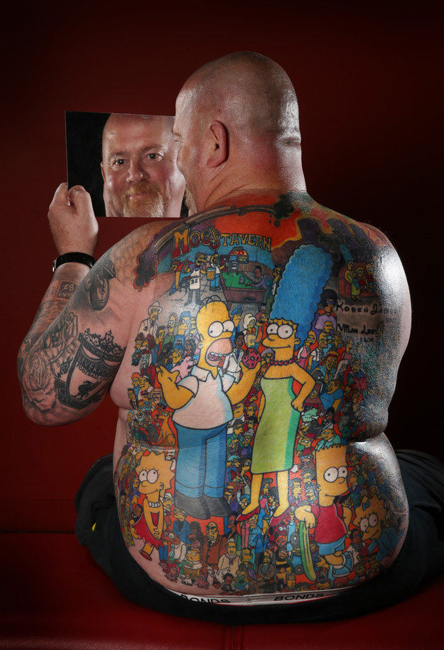 Pop Culture Homage Tattoos Simpsons Tattoo