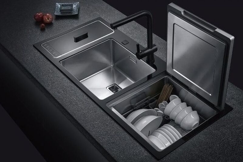 Countertop-Integrated Dishwashers