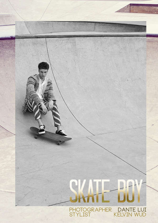 Style Conscious Skater Portraits Skate Boy Male Model Scene