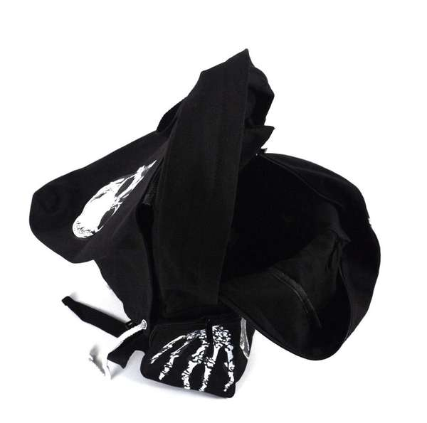 Detachable Skeletal Hoodie Bags