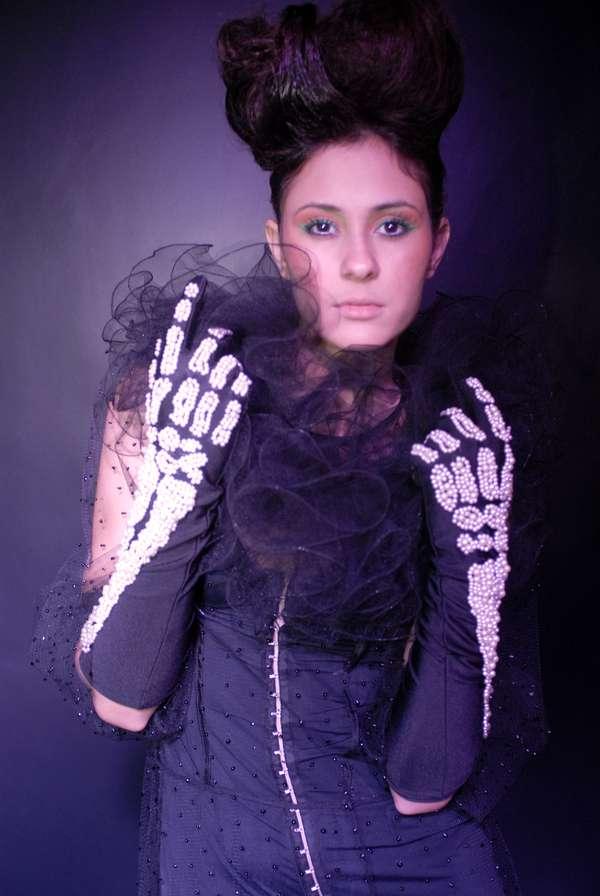 Glamorous Skeleton Gloves