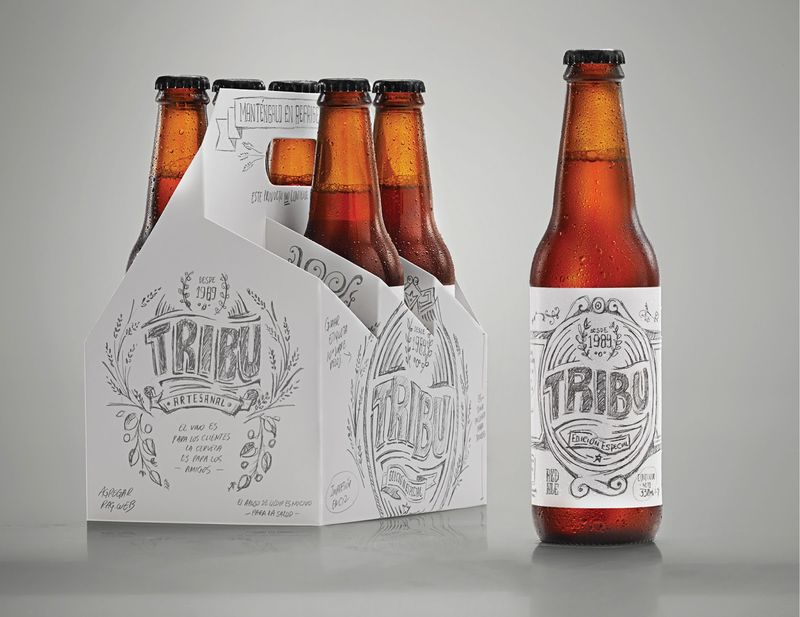 Sketched Beer Branding