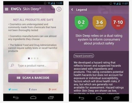 Cosmetic Safety-Detecting Apps : Skin Deep App