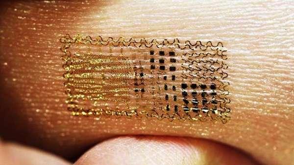 Tattooed Electronic Skin Sensors