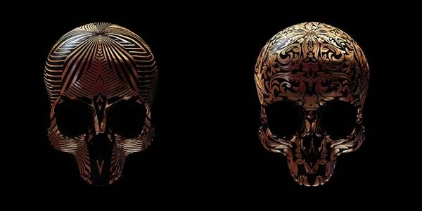 Engraved Skull Art