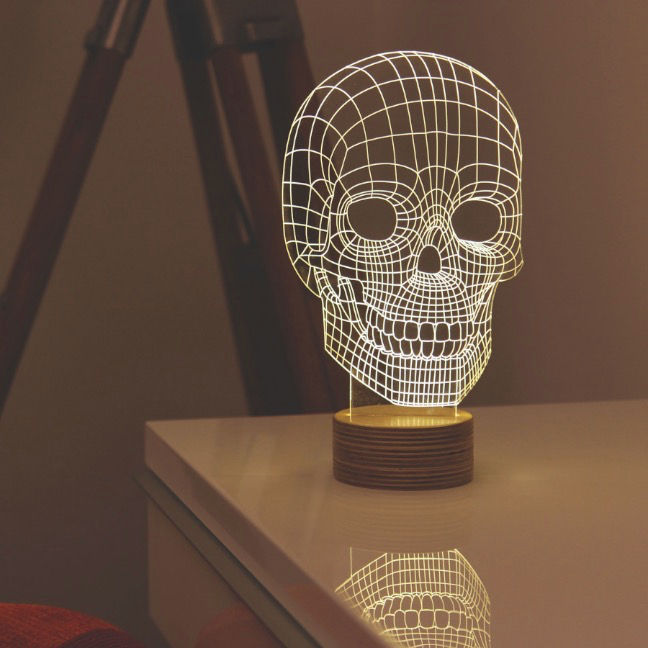Schematic Skull Lamps