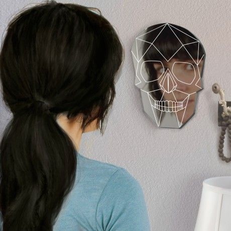 Geometric Skull Mirrors