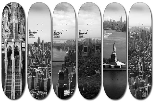 Sky Line Skateboards Zooyork Decks Represent Nyc In Sky