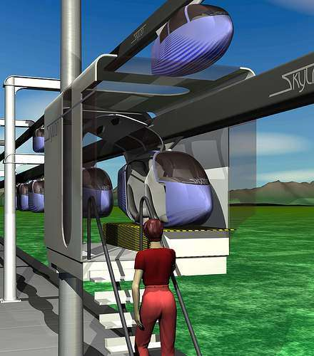 Ultra High Speed Public Pods: SkyTran Individual Maglev System