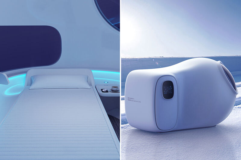Relaxing Airport Rest Pods
