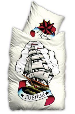 Tattoo-Inspired Bedding