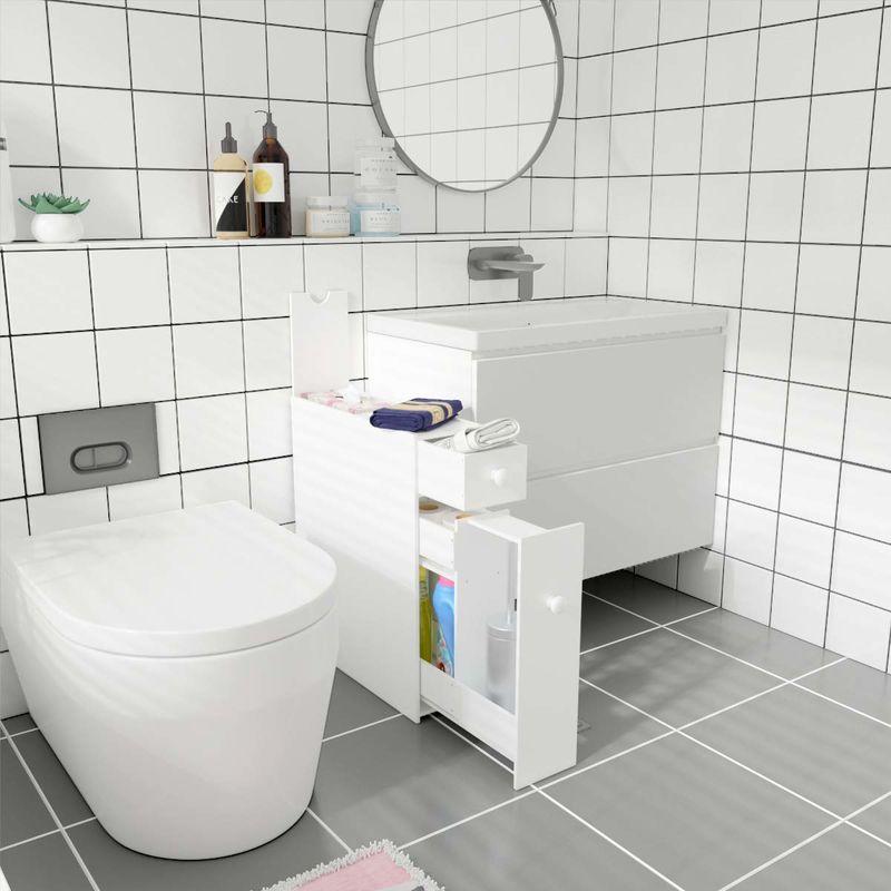 Slick Slide-Out Bathroom Cabinets