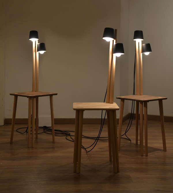 Built-In Lamp Furniture