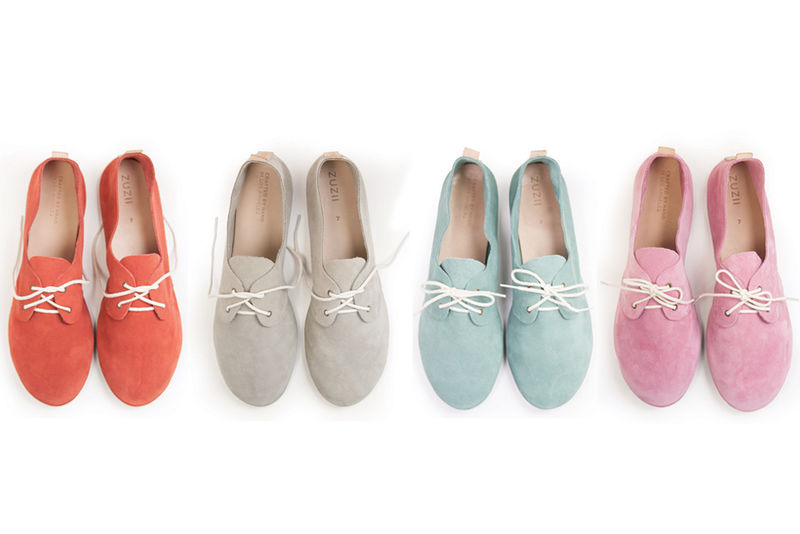 Colorful Suede Oxfords