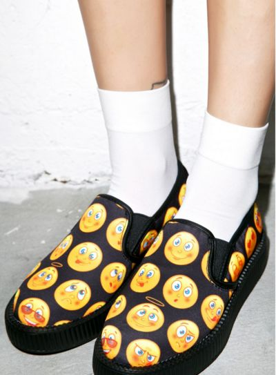 Emoji Slip-On Platforms