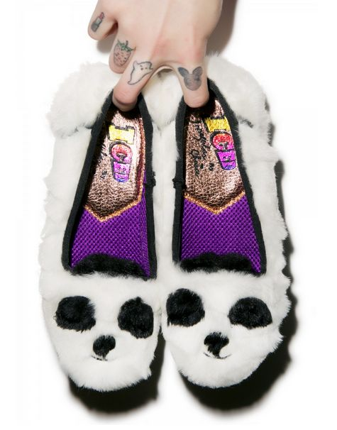Panda-Themed Sneakers