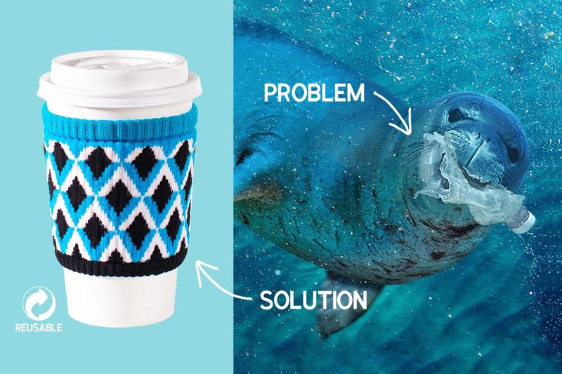 Ocean Plastic Coffee Sleeves