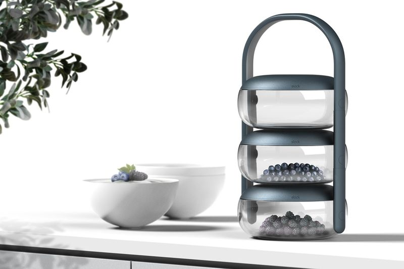 Stacked Food Storage Towers