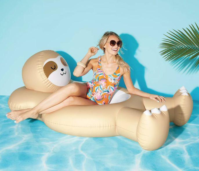 Sloth-Shaped Pool Floats