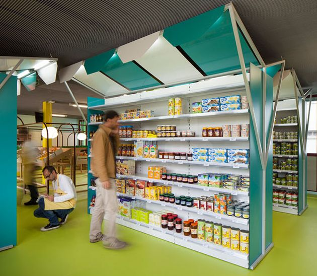 Cartoonish Grocery Shops