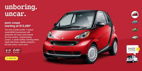 anti size auto ads smart car unbig. Black Bedroom Furniture Sets. Home Design Ideas