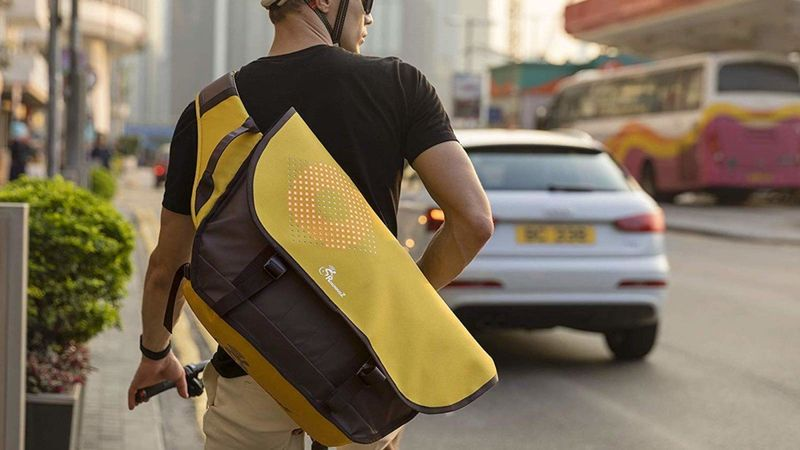 Customizable LED Cyclist Packs