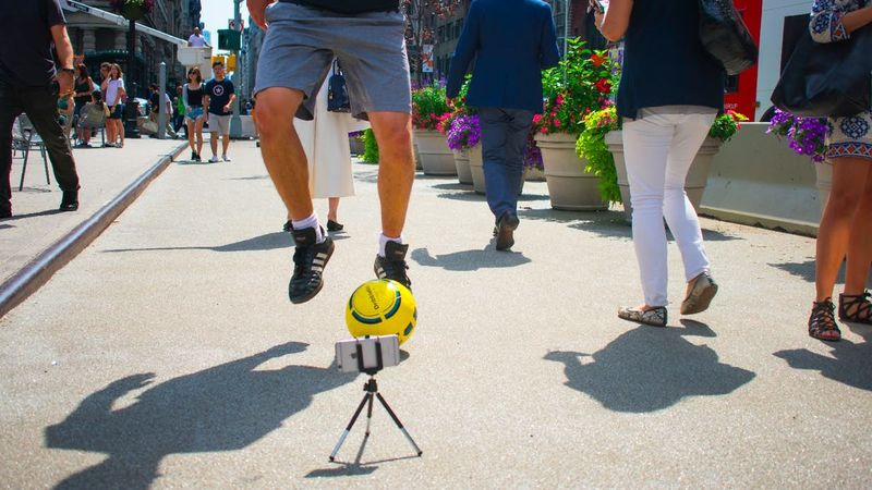 Smartphone-Connected Soccer Balls