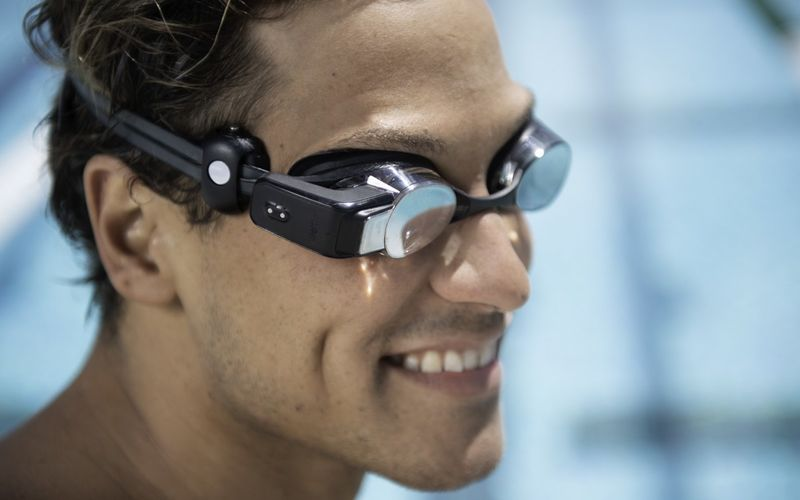 Heart Rate Display Goggles