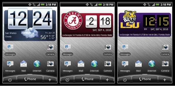 College Sports Apps : smart widgets