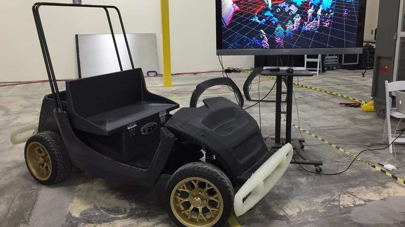 Autonomous 3D-Printed Cars
