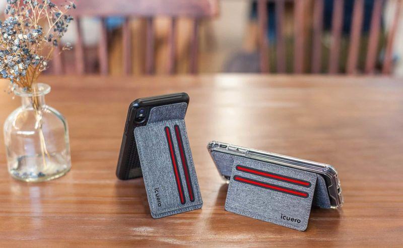 Ergonomic Smartphone Wallet Stands