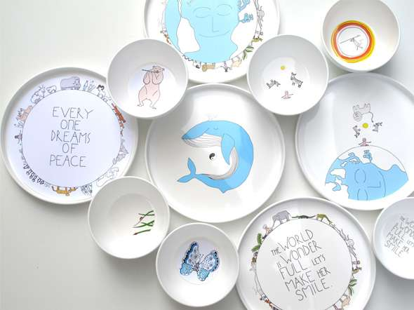 Whimsical Earth-Friendly Plates