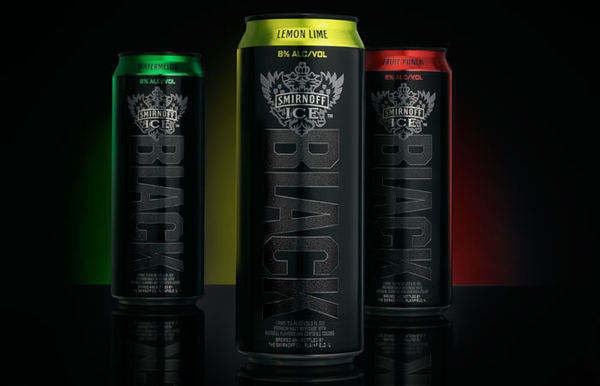 Matte Black Beverage Cans
